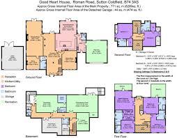 Nec Birmingham Floor Plan 6 Bedroom Detached House For Sale In Roman Road Little Aston Park