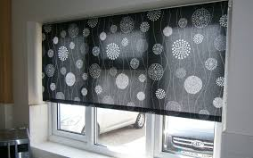 black patterned roller blind kitchen surrey blinds u0026 shutters