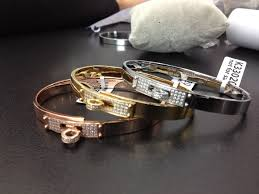 rose gold white gold bracelet images Hermes kelly bracelet diamonds in rose gold white gold yellow jpg