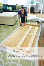 how to make cloth headboard 9261