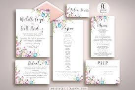 wedding invitation suite floral wedding invitation suite invitation templates creative