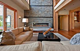 Fireplace Inserts Seattle by Seattle Stack Stone Fireplace Living Room Contemporary With Large
