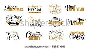 merry happy new year greeting stock vector 525679669