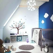deco mural chambre bebe peinture mur chambre bebe couleur bleue et decoration murale garcon
