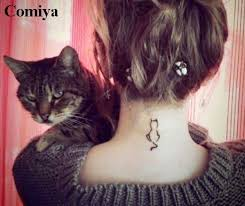 small kitty cat temporary tattoo products body art waterproof