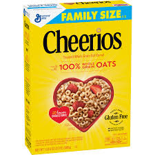 cheerios gluten free breakfast cereal 21 oz family size cereal