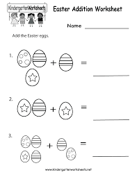 collection of solutions easter worksheets for kindergarten about