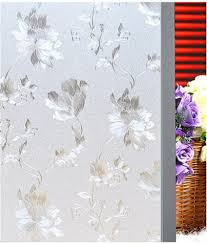 buy frosted glass window film home decor privacy embossed flower