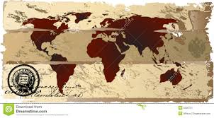 World Map Antique by Grunge Stained Map Of The World Stock Photo Image 25833310
