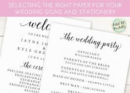 wedding signs template selecting the right paper for your printable wedding signs and