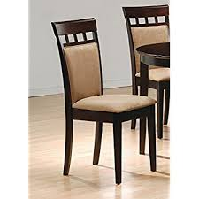 Dining Chair Wood Coaster Cushion Back Dining Chairs Cappuccino Set