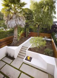 backyard concrete patio ideas midcentury epansive amys office