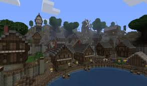 Minecraft Project Ideas Old Harbour Town Minecraft Project