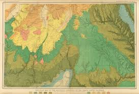 Map Of Grand Canyon Geologic Map Of The Mesozoic Terraces Of The Grand Canon District