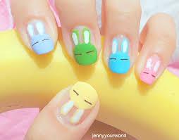 the milk club bunny hologram nails