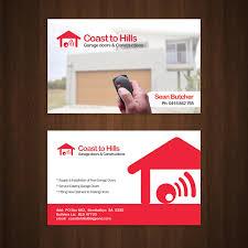 garage door logo design garage door logo design garage doors business card red2