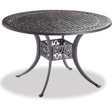 madrid 48 inch round cast aluminum table dining furniture