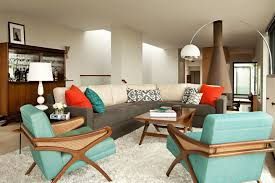 modern living room furniture ideas mid century modern living room ideas blue chairs amazing
