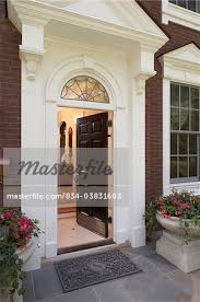 Exterior Door Pediment And Pilasters Front Doors Entrance To An Federal Style Home Arched