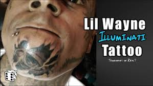 lil wayne gets illuminati tattoo on his face all seeing eye on