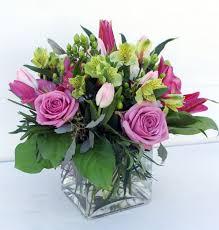 square glass vase flower arrangement home design ideas