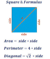 Meters To Feet Squared Area Perimeter U0026 Diagonal Length Of Square Calculator