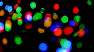 christmas and new year decoration abstract blurred bokeh blinking