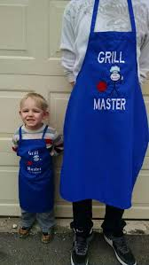 Personalized Mens Aprons Father Mother And Son Daughter Matching Bbq Apron Custom