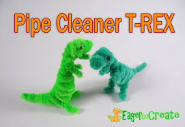 pipe cleaner crafts dinosaur trex youtube