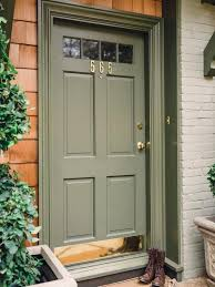 Kelly Green Door With Brass Hardware Interiors by Front Door Drama Elements Of Style Blog