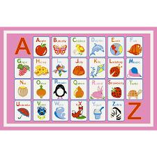 Alphabet Area Rug with Shop Concord Global Alphabet Dreams Pink Rectangular Indoor