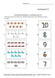 counting worksheets up to 10