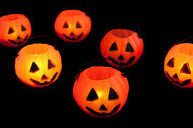 orange black halloween background image of jackolantern lights creepyhalloweenimages