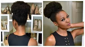 small afro puff buns hair pieces big afro puff with clip ins for 4b and 4c natural hair youtube