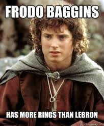 Frodo Meme - frodo baggins has more rings than lebron frodo quickmeme
