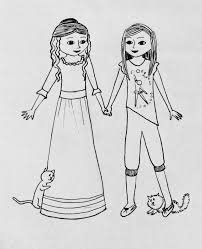 more american coloring pages small dolls in a big world