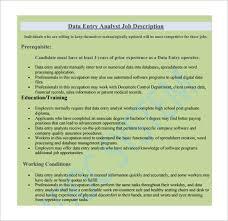 Information Desk Job Description 12 Data Entry Job Description Templates U2013 Free Sample Example