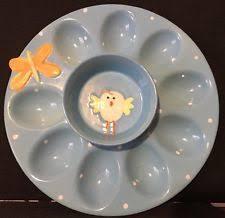 ceramic deviled egg platter pier 1 easter colorful ceramic deviled egg plate platter ebay