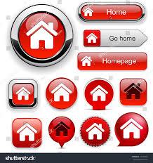 home red design elements website app stock vector 111254933