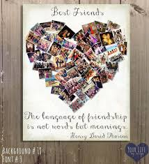 gift for best friends photo collage gift for