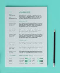 Resume Template Free Clean Resume Template Free Design Resources