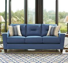 ashley furniture blue sofa ashley furniture forsan blue nuvella fabric upholstered sofa with