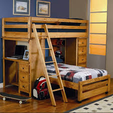 Bunk Beds  Full Size Loft Bed With Stairs Low Loft Bed With Desk - Queen bunk bed with desk