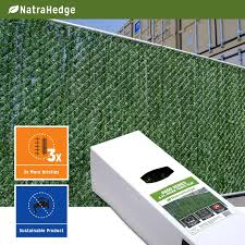 Decorate A Chain Link Fence Amazon Com Natrahedge 6 Ft Hedge Slats For Chain Link Fencing