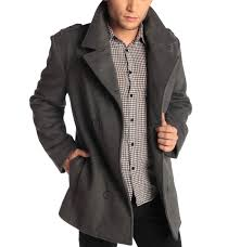 mens moto jacket alpine swiss jake mens pea coat wool blend double breasted dress