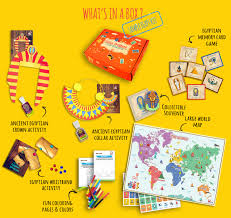 world travel kit with craft activities for kids globetrottersbox