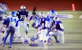 Hit The Floor Meaning - john jay high football players tackle a referee in marble
