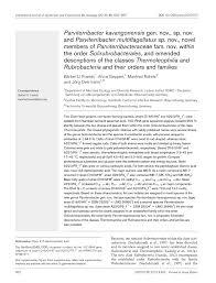 microbiology society journals parviterribacter kavangonensis gen