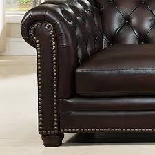 Amax Leather Furniture High Quality Top Grain Leather At Amazon Com Amax Leather Kennedy 100 Leather 4 Piece Sectional