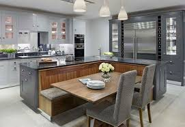built in kitchen islands with seating kitchen island with built in seating inspiration the owner